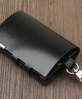 大容量钥匙包男士真皮腰挂零钱包
