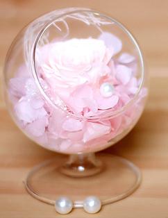 永生花月牙杯粉色