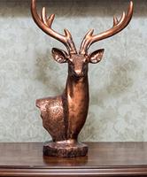 古典奢华高贵麋鹿头办公室桌面摆设